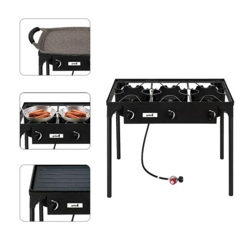 Portable Propane 225,000-BTU 3 Burner Cooker Camp