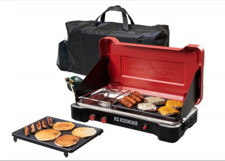 Camp Chef Rainier 2X Two Burner Griddle & Stove Combo