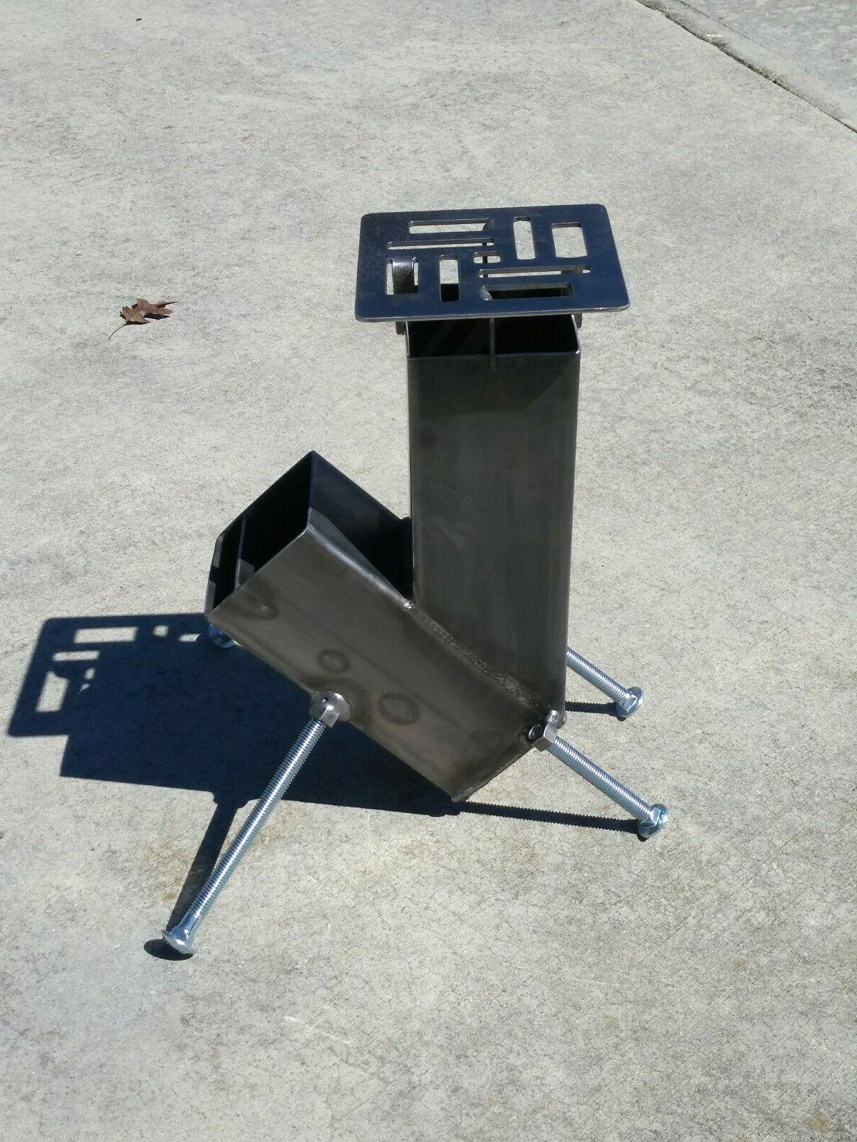 rocket stove gravity feed design be ready