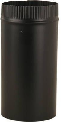 """new sections , 6"""" x 24"""", 24 Gauge Black Stove Pipe by Imper"""