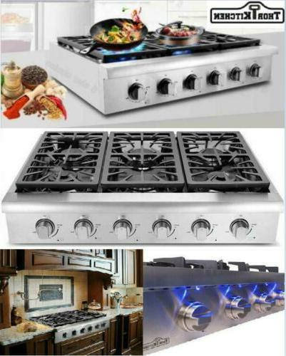 THOR KITCHEN Stainless Gas griddle 6 Burners