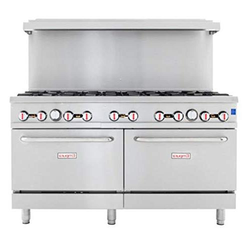stainless steel commercial gas range