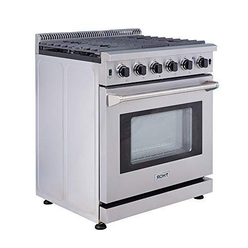 """Thor Kitchen 30"""" Steel Range with"""