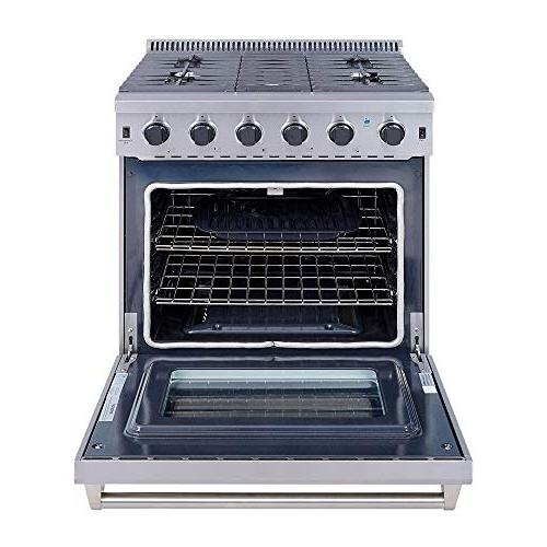 stainless steel gas range oven