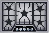 "Thermador Stainless Steel 30"" Masterpiece Deluxe Gas Cooktop"