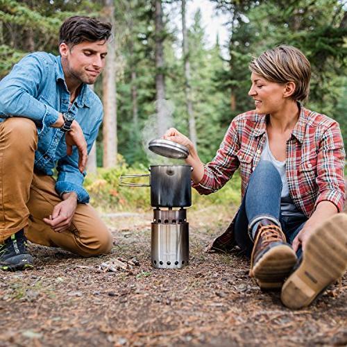Solo Solo Pot 1800 Camp Stove Woodburning Backpacking Stove for Camping and Survival