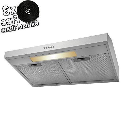 stainless steel under cabinet range