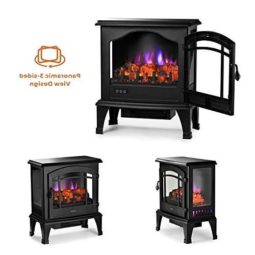 TURBRO TS23 Freestanding Electric Multi Flame Brightness Adjustable Certified-23'' 23