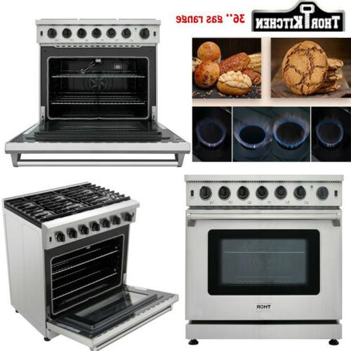 Thor Stainless 36inch Gas 6 Cu. Ft.