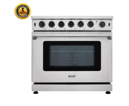 thor stainless steel 36inch gas range stove