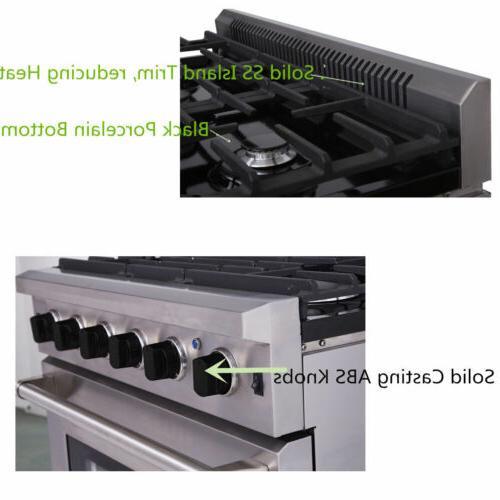 Thor Kitchen 36inch Range Steel Stoves LRG3601U