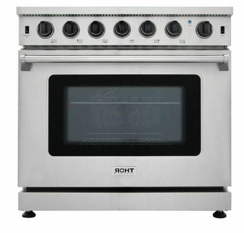 stainless steel kitchen 36inch gas range stoves