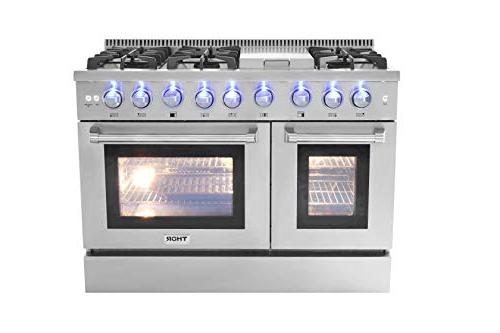 Thor Kitchen Gas with Burners and Double Stainless - HRG4808U-1