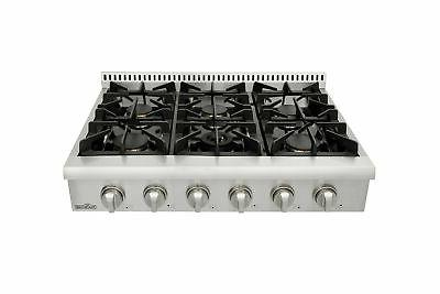 thorkitchen pro style gas rangetop with 6