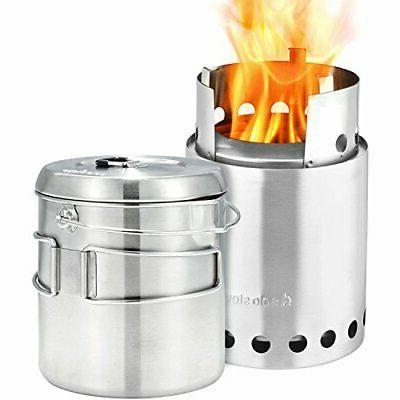 titan and solo pot 1800 camp stove