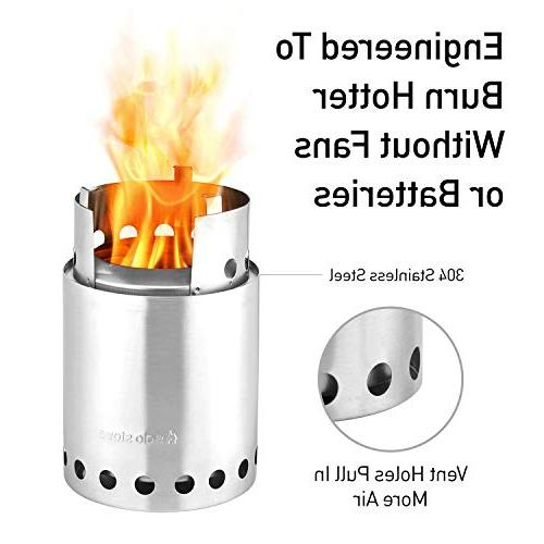 Solo Stove Titan - 2-4 Person Lightweight Wood Burning Stove. Camp Stove Camping, Burns - No