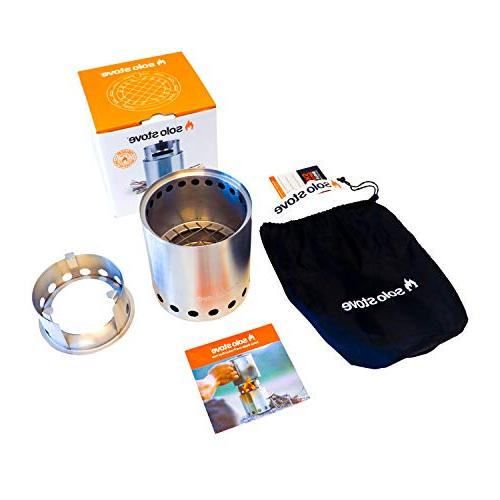 Solo Stove 2-4 Lightweight Wood Burning Compact Stove Backpacking, Camping, Twigs - No Batteries Liquid