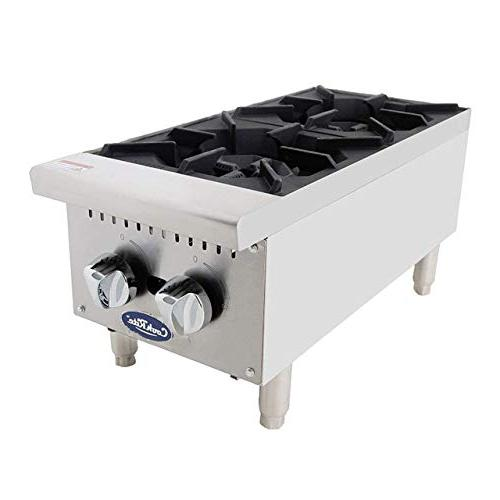 two burner commercial plate countertop