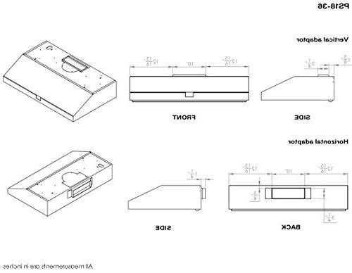 "Chef 36"" Under | PS18 | Contemporary Modern Design w/860 CFM, Touch w/Digital Clock, Dishwasher Baffle LED Options"
