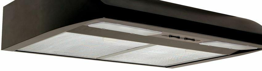 Undercabinet Black Hood, Air King, Stove Top Vent, Blower
