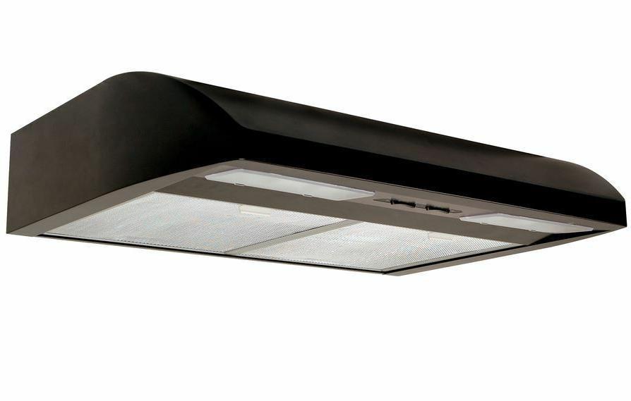 undercabinet black range hood stove top vent