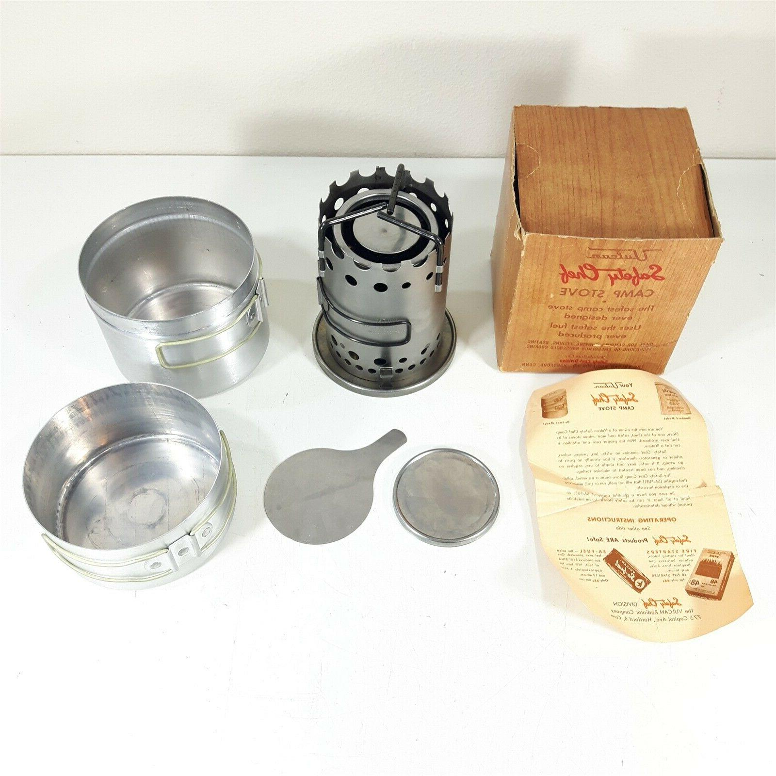 vulcan safety chef vintage camp stove 1950a