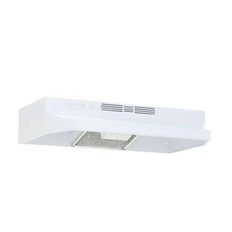 30 in White Non-Vented Range Hood Kitchen Stove Under Cabine