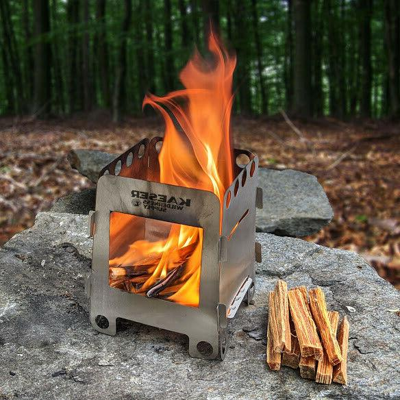 wood burning folding camping stove lightweight alcohol