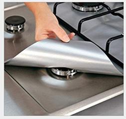 Lingstar 4PCS Non-Stick Gas Range Protectors Reusable Alumin