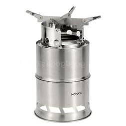 Lixada Portable Stainless Lightweight Wood Solidified Stove