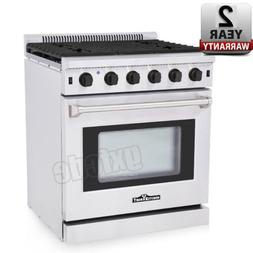 "Thor Kitchen LRG3001U 30"" Stainless Steel Gas Range Oven wit"