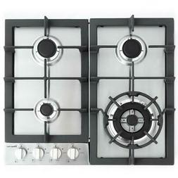 "Magic Chef Built MCSCTG24S 24"" Gas Cooktop with 4 Burners, S"