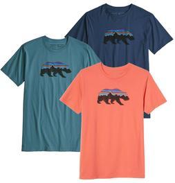 Men's PATAGONIA Fitz Roy Bear Organic T-Shirt #39143 Slim Fi