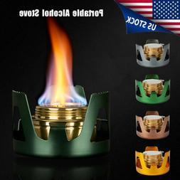 Mini Alcohol Burner Stove Portable for Camping Backpacking H