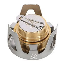 REDCAMP Mini Alcohol Stove for Backpacking, Lightweight Bras