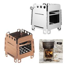 Mini Portable Stove Wood Burning Stable BBQ Cooking Grill Po