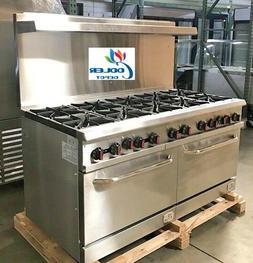 """NEW 10 Burner Range Heavy Duty 60"""" Commercial Restaurant S"""
