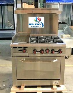 """NEW 36"""" Oven Range Combo Griddle & Hot Plate Stove Top Comme"""