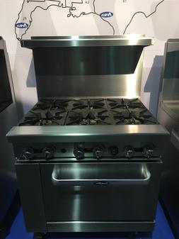 """NEW 36"""" RANGE 6 BURNERS WITH 1 FULL STANDARD OVEN STOVE  LP"""