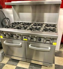 "NEW 8 Burner range Heavy Duty 48"" Commercial Restaurant St"