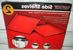 New Burner Folding Side Shelves Set Camp Stove Chef Accessor