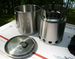 NEW Solo Stove LITE + Solo Stove Pot 900 Set Hiking Wood Cam