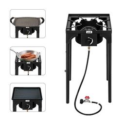 New Single Stove Burner Propane Gas Stove Outdoor Camp BBQ C
