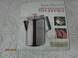 New Great Land Stainless Steel Coffee Pot Camping Outdoor St