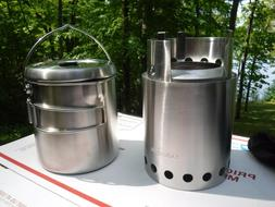 NEW Solo Stove Titan & Solo Pot 1800  Wood Backpacking Stov