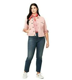 NIP Land's End Plus Size Stove Pipe Ankle Jeans-Size 16W