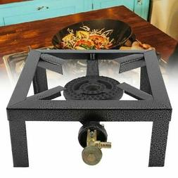 Outdoor Camping Single Gas Burner Large BBQ Stove Cast Iron