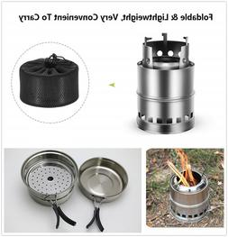 Outdoor Camping Wood Alcohol Pocket Stove Tray Fishing Hikin