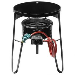 Outdoor Single Gas Stove Propane Burner Large BBQ LPG Cast I
