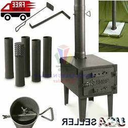 OUTDOOR WOOD BURNING STOVE Steel Camping Survival Tent Grill